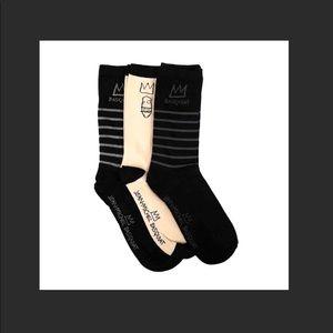 JEAN-MICHEL BASQUIAT socks - 3 pair